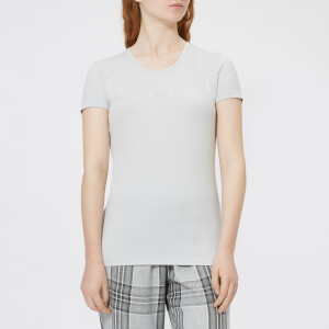 Emporio Armani Women's Basic Cotton T-Shirt - Silver