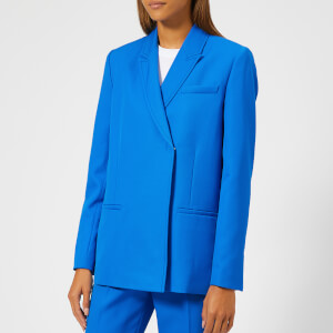 Victoria, Victoria Beckham Women's Fluid Wool Twill Tailored Jacket - Lapis