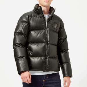 Versace Collection Men's Padded Down Jacket - Nero