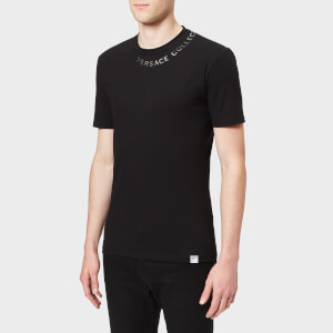 Versace Collection Men's Collar Logo T-Shirt - Black