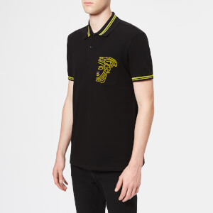Versace Collection Men's Tipped Polo Shirt - Nero