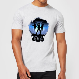T-Shirt Harry Potter Silhouette Attack - Grigio - Uomo