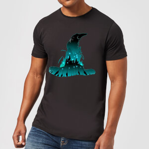 Harry Potter Hogwarts Silhouette Men's T-Shirt - Black