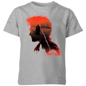 Harry Potter Harry Silhouette Battle Kinder T-Shirt - Grau