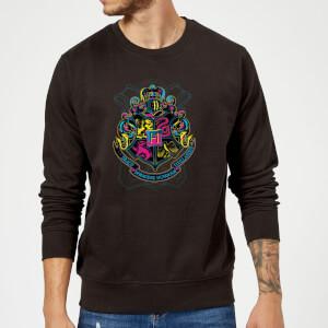 Harry Potter Neon Hogwarts Crest Sweatshirt - Black