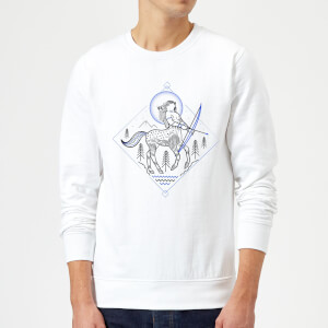 Harry Potter Centaur Line Art Sweatshirt - White
