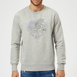 Sudadera Harry Potter Thestral - Hombre - Gris