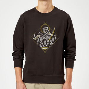 Harry Potter Centaur Line Art Pullover - Schwarz
