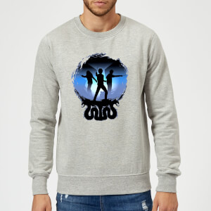Sweat Homme Silhouette de Bataille - Harry Potter - Gris
