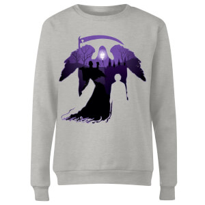 Harry Potter Graveyard Silhouette Women's Sweatshirt - Grey