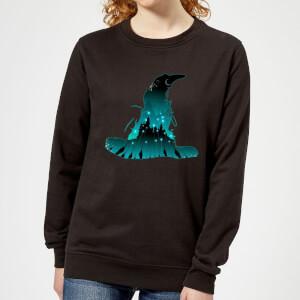Harry Potter Hogwarts Silhouette Dames Trui - Zwart