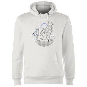 Sweat à Capuche Homme Dessin au Trait Buck - Harry Potter - Blanc
