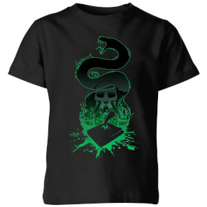 Harry Potter Nagini Silhouette Kinder T-Shirt - Schwarz