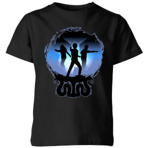 T-Shirt Harry Potter Silhouette Attack - Nero - Bambini