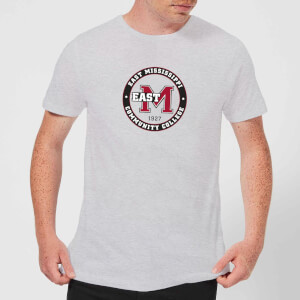 East Mississippi Community College Seal Men's T-Shirt - Grey
