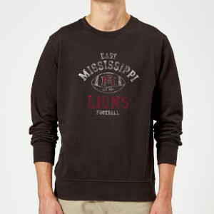 East Mississippi Community College Lions Football Distressed Sweatshirt - Black