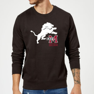 Sweat Homme Lion et Logo - East Mississippi Community College - Noir