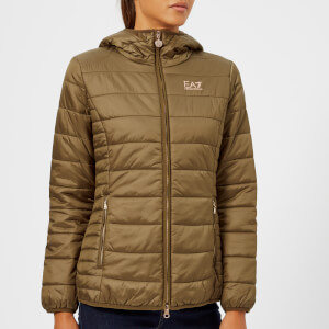 Emporio Armani EA7 Women's Train Logo Series Jacket - Stone Brown