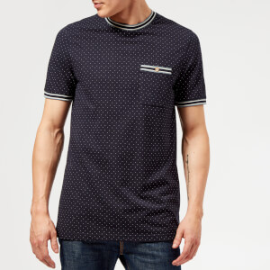 Ted Baker Men's Glaad Pique Mini Spot T-Shirt - Navy