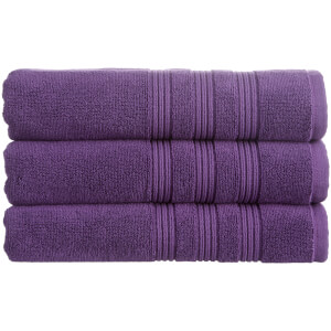 Christy 100% Combed Cotton 4 Piece Towel Bale (675gsm) - Damson