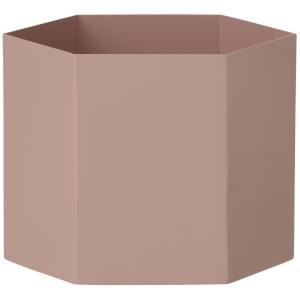 Ferm Living Hexagon Pot - Extra Large - Rose