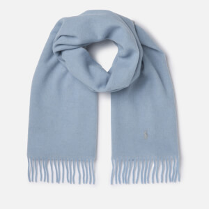 Polo Ralph Lauren Women's Reversible Scarf - Dusty Blue