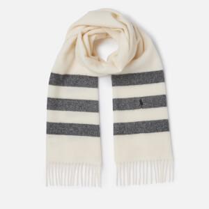 Polo Ralph Lauren Women's Stripe Scarf - Cream/Black