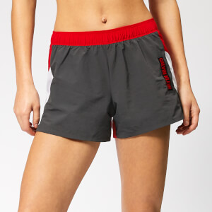 Calvin Klein Performance Women's Woven Shorts - Gunmetal/Bright White/Racing Red