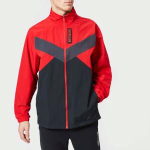 Calvin Klein Performance Men's Woven Full Zip Jacket - Racing Red