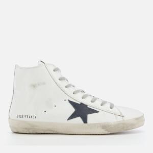 Golden Goose Deluxe Brand Men's Francy Hi-Top Sneakers - White/Bluette Zip
