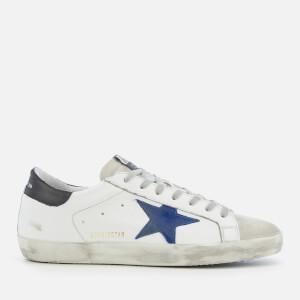 Golden Goose Deluxe Brand Men's Superstar Sneakers - White/Bluette/Black