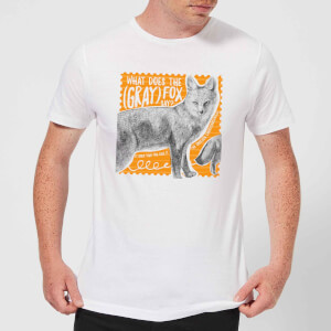 Natural History Museum What Does The Gray Fox Say? Men's T-Shirt - White