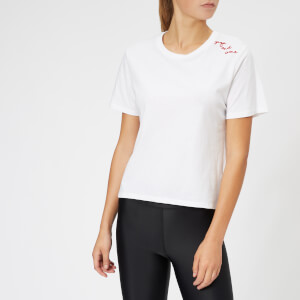 The Upside Women's Yoga and Wine T-Shirt - White