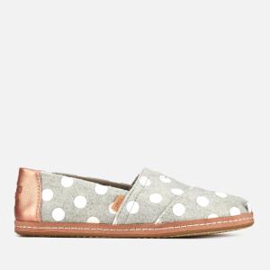 TOMS Women's Drizzle Dots Felt Alpargata Pumps - Grey