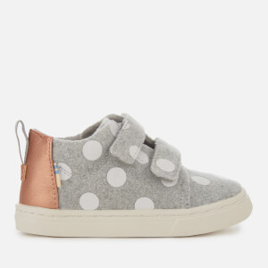 TOMS Toddlers' Lenny Felt Polka Dot Mid Trainers - Drizzle Grey