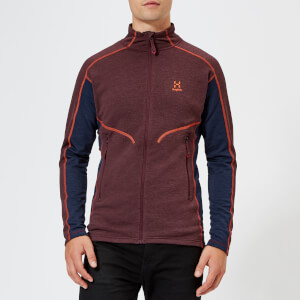 Haglofs Men's Heron Fleece Jacket - Aubergine/Tarn Blue