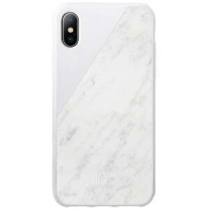 Native Union Clic Marble Metal iPhone X - White