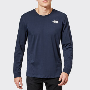The North Face Men's Long Sleeve Simple Dome T-Shirt - Urban Navy