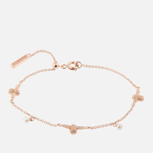 Olivia Burton Women's Pearl Bee Chain Bracelet - Rose Gold