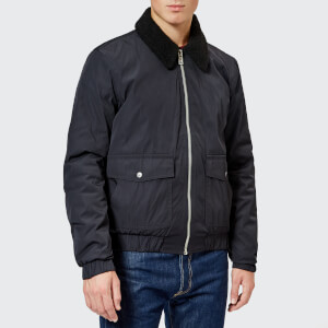 Jack Wills Men's Forton Nylon Aviator Jacket - Navy