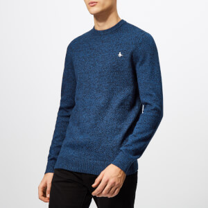Jack Wills Men's Rye Classic Crew Neck Knit Jumper - Navy