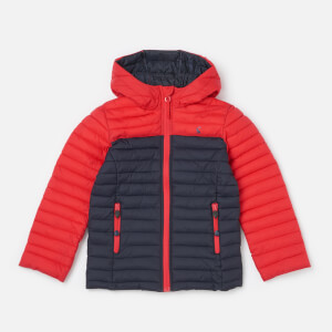 Joules Boys' Cairn Packaway Jacket - Red