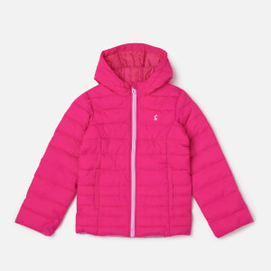 Joules Girls' Kinnaird Packaway Coat - True Pink
