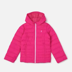 Joules Girls' Kinnaird Packaway Coat - True Pink