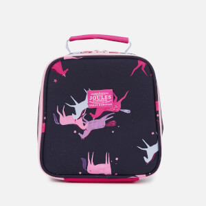 Joules Girls' Junior Munch Lunch Bag - Navy Magic Unicorn