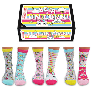 United Oddsocks Women's Be a Unicorn Socks Gift Set