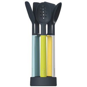 Joseph Joseph Elevate Light Silicone Utensil Carousel 5 Piece Set - Opal