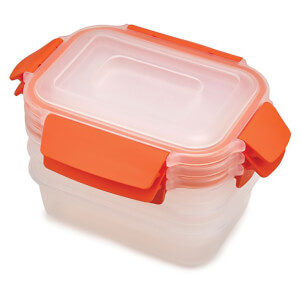 Joseph Joseph Nest Lock 3-Piece Food Storage Containers - Orange
