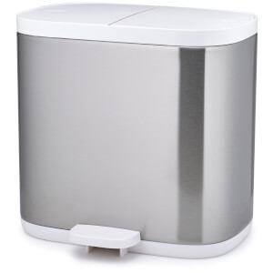Joseph Joseph Split Steel Bathroom Recycler Waste Pedal Bin