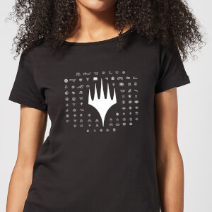 T-Shirt Femme Emblèmes 25e Anniversaire de Magic : The Gathering - Noir